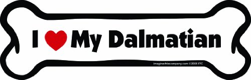 Imagine This Bone Car Magnet, I Love My Dalmatian, 2-Inch by 7-Inch