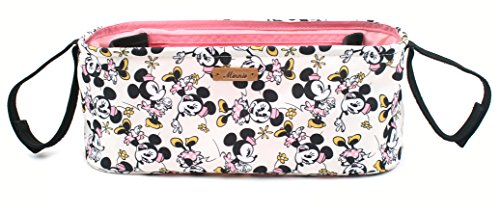 Disney Smile Mickey Minnie Mouse Organizer Diaper Storage Space for Cup Hoders, iPhones, Diapers, Toys (Ivory) by DisneyBagStore (Image #2)