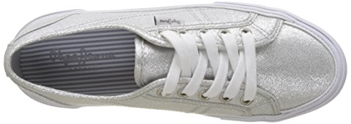 Sneakers Pepe Aberlady silver Femme Argent Basses Jeans Fresh rrCwtg