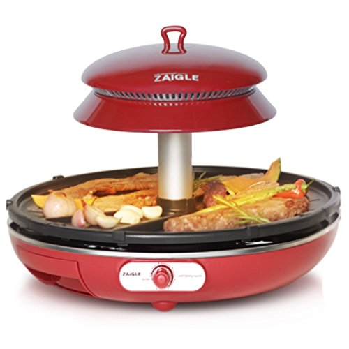 ZAIGLE Well-being Roaster Red ZR-0907 Electric Infrared Grill No-oil splatter, 220V - Cook Number Electric Grill