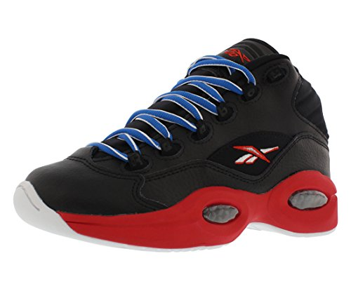 Reebok Question Mid SS Junior's Casual Shoes Size US 7, Regular Width, Color Black/Red ()