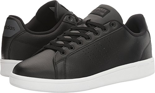 adidas Men's Cloudfoam Advantage Clean Sneakers, Black/Black/White, (12 M US)