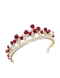 Rhinestone Red Rose Tiaras and Crowns Wedding Tiara Bridal Crown wedding Tiaras For Brides
