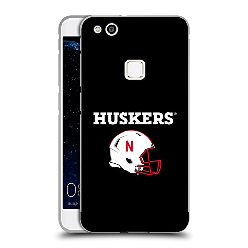 Official University Of Nebraska-Lincoln UNL Helmet Logotype Black Metallic Aluminum Bumper for Huawei P10 Lite (Head Case Helmet)