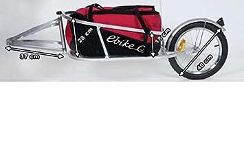 Remolque de bicicleta ebikeco carga mochila, 1 rueda rojo. España, Garantía