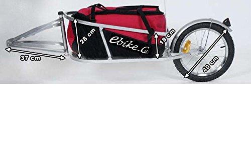 Remolque de bicicleta ebikeco carga mochila, 1 rueda rojo. España, Garantía: Amazon.es: Deportes y aire libre