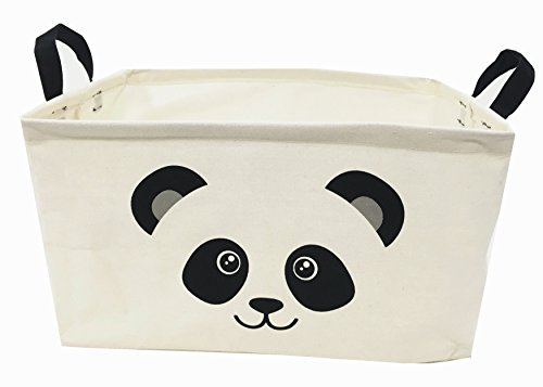 & Cotton Fabric Storage Bin Shelves Storage Basket with Handles-for organizing Baby Toys Bins,Kids Toys,Baby Clothing,Children Books, Gift Baskets(15×10×9