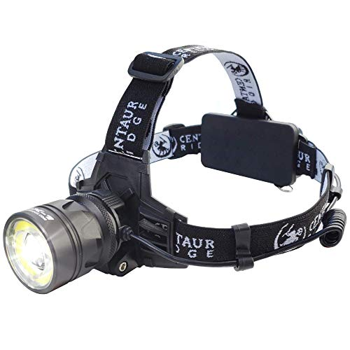 (Centaur Ridge Headlamp - Xtreme Bright, 1000 Lumen CREE LED, Zoomable, USB Rechargeable | Best Flashlight for Camping, Hiking, Running, Work)