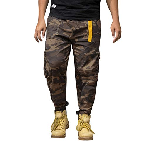Houshelp Sports Sweat Harem Training Baggy Jogging Casual Men Trousers Pants Army Green