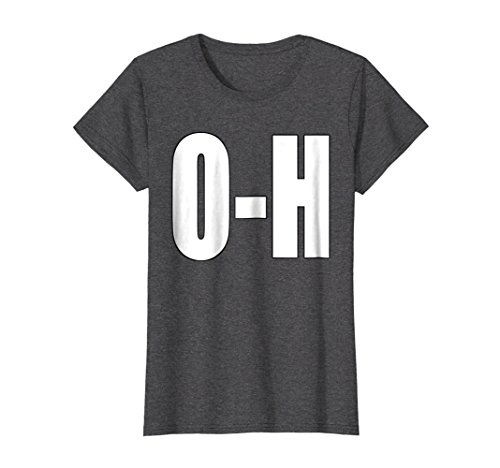 Womens O-H Couples Matching Football Shirt For Ohio Sports Medium Dark Heather ()