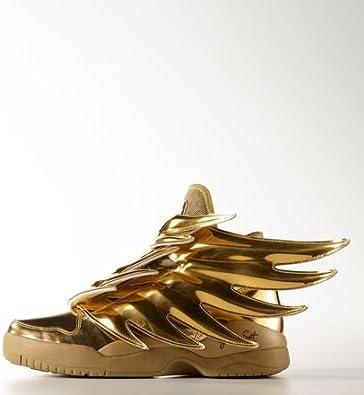 Hubert Hudson obesidad sustracción  Amazon.com: adidas x Jeremy Scott - Alas para hombre JS 3.0 (doradas),  talla 19: Shoes