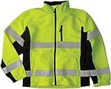 ML Kishigo WB100 Polyester Black Series Windbreaker High-Viz Jacket with Adjustable Cuffs, Extra Large, Lime