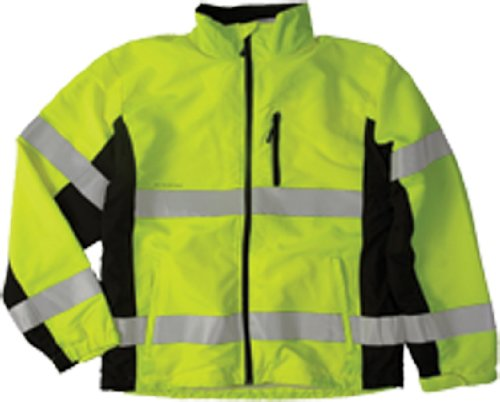 [ML Kishigo WB100 Polyester Black Series Windbreaker High-Viz Jacket with Adjustable Cuffs, 3X-Large, Lime] (Ml Series)
