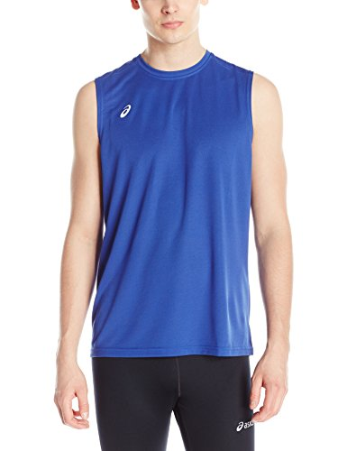 Royal Blue Training Top - ASICS Circuit 8 Warm-Up Sleeveless, Royal, Medium