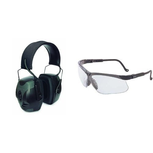 67f6ec6501a Howard Leight by Honeywell Impact Pro Sound Amplification Electronic  Earmuff (R-01902) with Sharp-Shooter Safety Eyewear