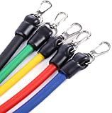 Latex Resistance Bands Fitness Exercise Tube 11 Pcs/Set Pull Rope Fitness Exercises Mountaineering Buckle Elastic Exercise Bands Set Multifunctional Fitness Home Crossfit Tubes Equipment