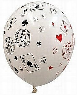 Cards & Dice Latex Balloon (Pack of 10) -11 inch