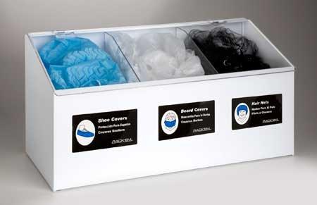 Horizon Manufacturing 5123 3-Compartment Dispenser Hair Net-Beard Cover-Shoe Cover