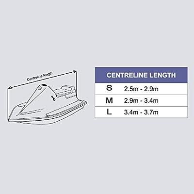SHJC Funda de Lancha Motora Protecci/ón Jet Ski Cover 210D Oxford Tela Funda para Barco Impermeable UV Resistente 420x300cm