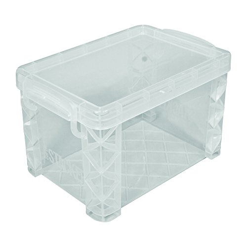 "Image of Advantus Super Stacker 4"" x 6"" Index Card Box, Clear, 1 Box, 40305"