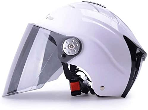 NJ ヘルメット- 夏用ヘルメット日焼け止めUV保護軽量ABS素材多色 (Color : White, Size : 27x19.5cm)
