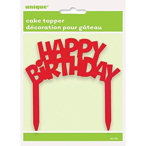 Plastic Happy Birthday Cake Topper
