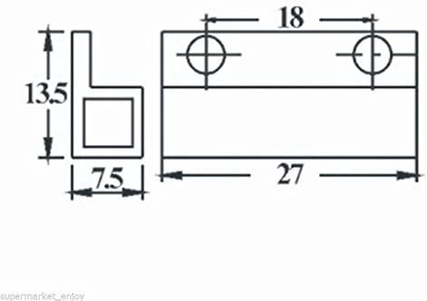 Uxcell MC-38 D/étecteur de porte magn/étique pour montage en saillie Blanc