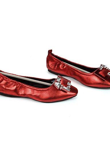 oficina Eu38 rojo Mujer dedo Del 5 5 Aire Talón Cuadrado Pdx Carrera Y us7 Al De Uk5 de Pie Black Cn38 Libre Zapatos casual Negro Plano Pisos Gladiador gris qRxq04Zwt