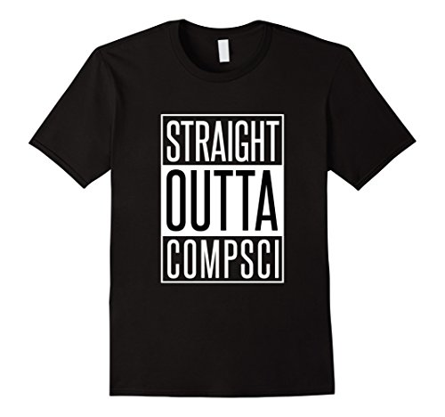 Mens Computer Science Tshirt - Straight Outta Comp Sci Parody XL Black