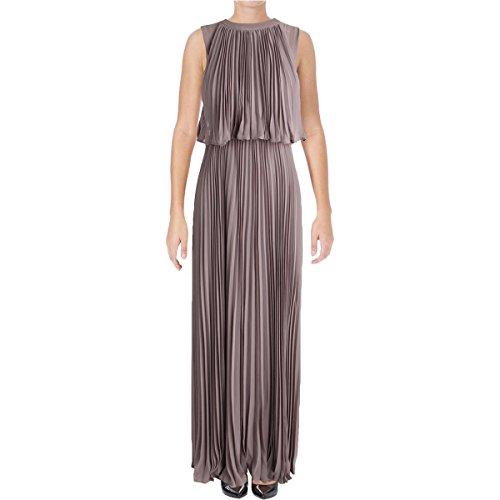 Vera Wang Women's Popover Chiffon Gown, Quartz 2 -