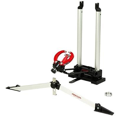 Image of Bike Tools & Maintenance Minoura FT-1 Wheel Truing Stand and Dishing Tool Combo, Silver