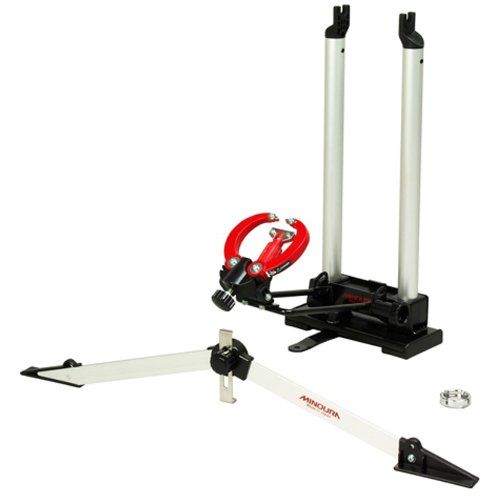 Minoura FT-1 Wheel Truing Stand and Dishing Tool Combo, Silver
