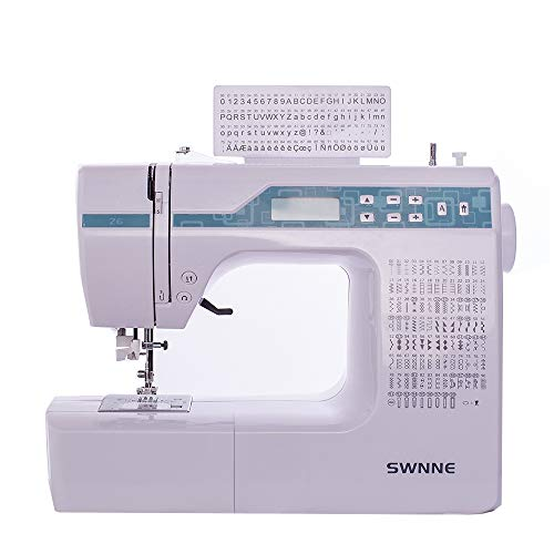 Electronic Sewing Machine Double Needle, Automatic Needle Threader, Automatic Control SWNNE Z6 Series Household Portable LED with 200 Built-in Stitches