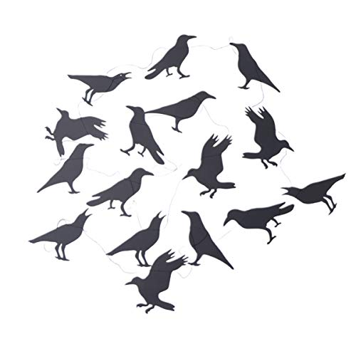 Creative Halloween Decoration Crows Banners Hanging Garlands Party Favors Supplies Decoration for Home Garden School
