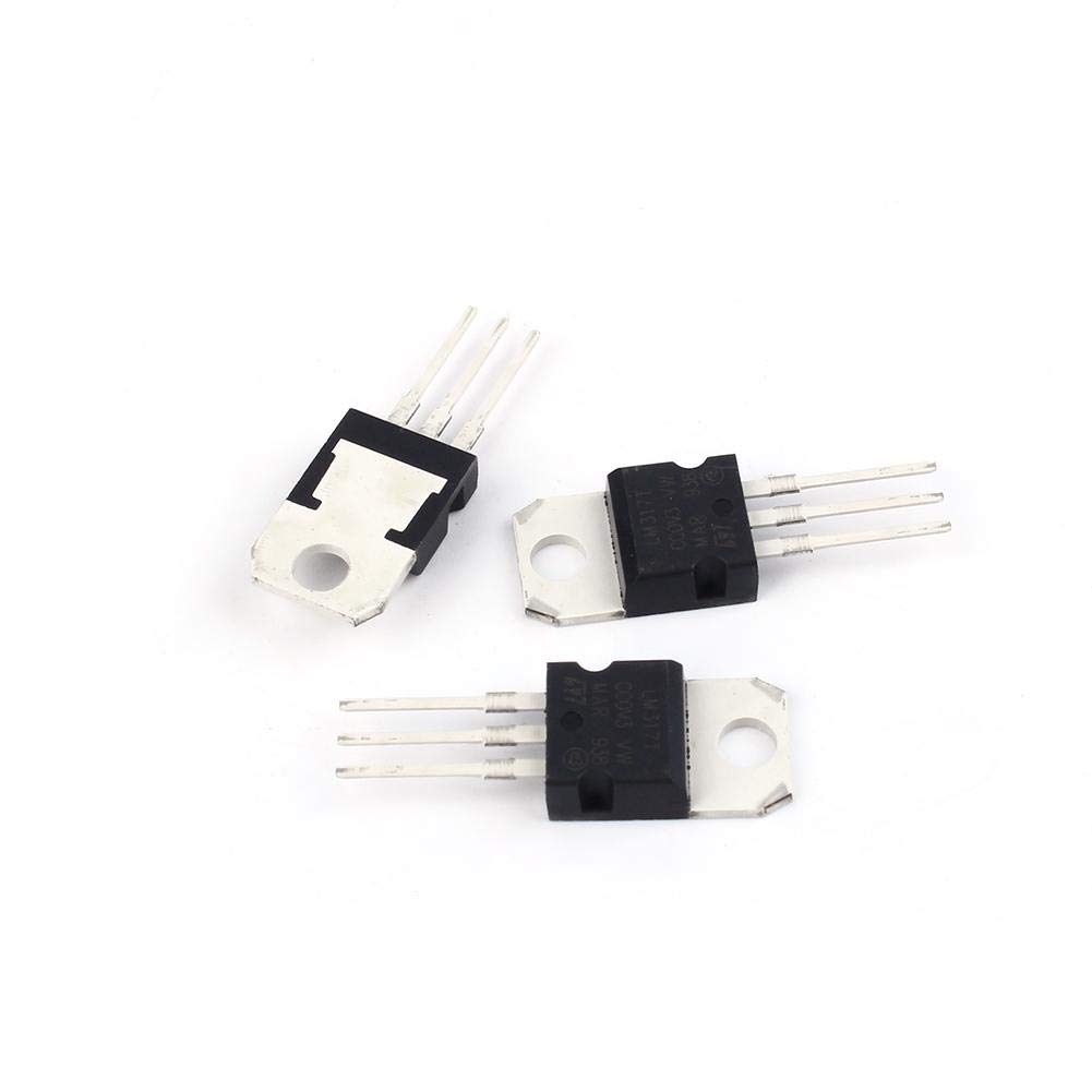 Voltage Regulator 10pcs 1.5A LM317T LM317 1.2V-37V Voltage Regulator Transistor for Voltage protection