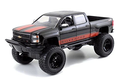 Jada 97476 2014 Chevrolet Silverado Black Pickup Truck Off Road 1-24 Diecast Model