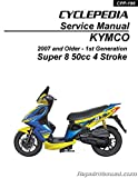 CPP-198 KYMCO Super 8 50 4-stroke 1st Generation Cyclepedia Scooter Service Manual ? Printed