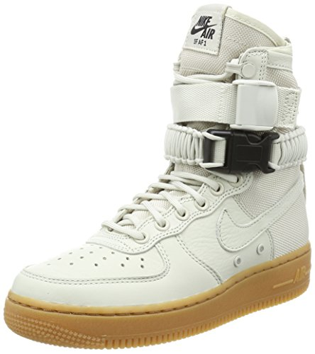 Af1 High Shoes - NIKE Women's WMNS SF AF1, Light Bone/Light Bone, 8 US