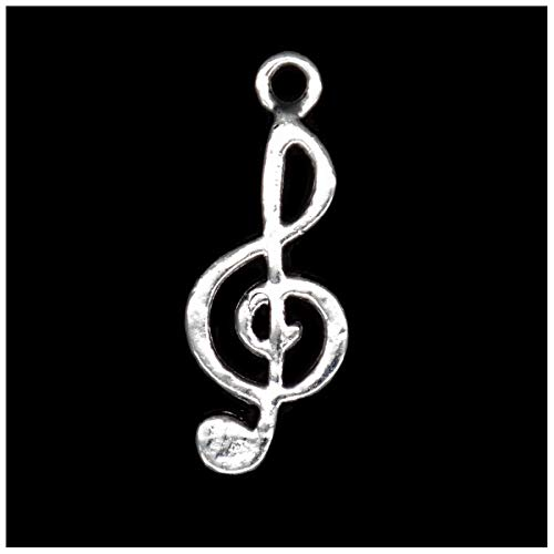 (Pack of 80 Musical Note Charms Pendants Silver Craft Supplies for Jewelry Making Tibetan Accessories for Bracelets Necklace DIY)