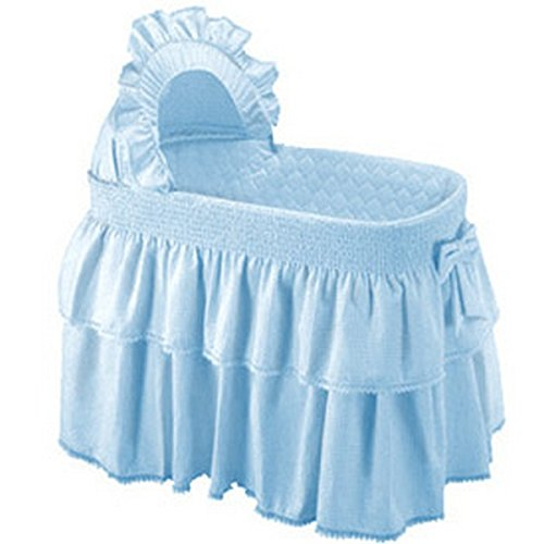 BabyDoll Paradise Rainbow Bassinet Set, Blue baby doll bedding 2470bas-blue