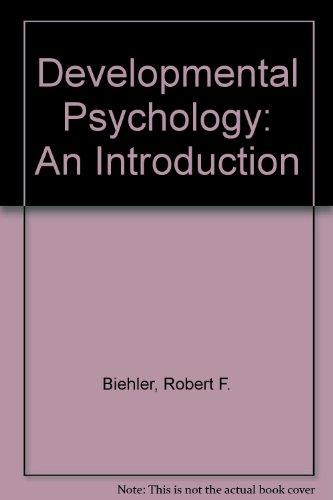 Developmental Psychology: An Introduction