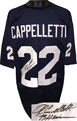 best service beb38 0ba92 John Cappelletti Autographed Signed Navy TB Custom Stitched ...