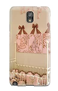 Hard Plastic Galaxy Note 3 Case Back Cover,hot Pink And Cream Girls Nursery With Personalized Wall Letters Case At Perfect Diy 7183494K96324436
