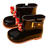 Toddler Baby Girls Boys Kids Rain Shoes for 1-7 Years Old,Child Bowknot Dot Rubber Waterproof Rain...