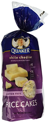 Quaker, Rice Cakes, White Cheddar, 5.5oz Bag (Pack of 4) (Rice Cakes White Cheddar)