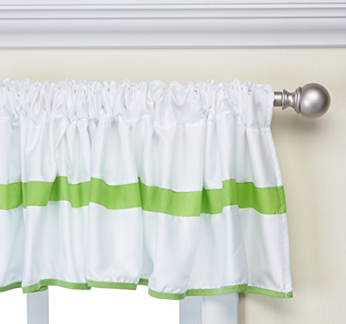 Baby Doll Bedding Modern Hotel Style Window Valance, Green Apple by BabyDoll Bedding