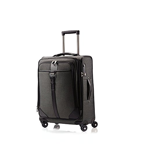 hartmann-herringbone-luxe-softside-carry-on-expandable-spinner-luggage-in-black