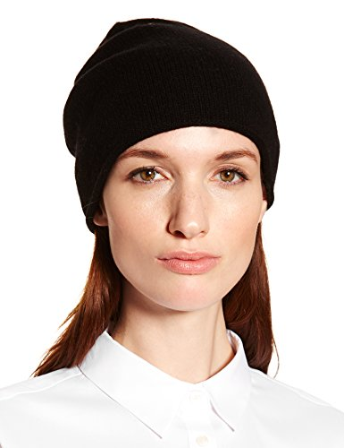 (New York Cashmere 100% Pure Cashmere Beanie Skull Cap (Black))