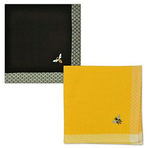 Design Import India Busy Bee Embellished Cloth Napkins, 1 EA