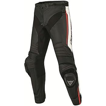 Amazon.com: Dainese MIG leather-textile pantalones negro ...